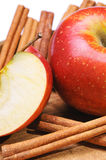 Apple with cinnamon Stock Images