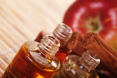 Apple cinnamon aromatherapy Royalty Free Stock Images