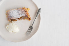 Apple and cinnamon Austrian pie Royalty Free Stock Photography