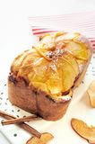Apple Cinnamon Bread. Homemade bread with apple and cinnamon stuffing Royalty Free Stock Photo