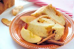 Apple Cinnamon Bread. Homemade bread with apple and cinnamon stuffing Stock Photos