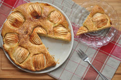 Apple Cinnamon Cake. On a plate Royalty Free Stock Photos