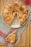 Apple Cinnamon Cake. On a plate Stock Photos