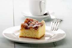Apple cinnamon cake on a plate Royalty Free Stock Image