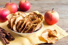Apple cinnamon chips Stock Image