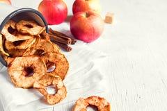 Apple cinnamon chips Stock Photos