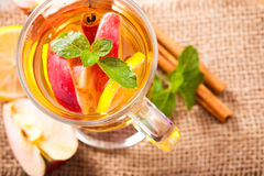 Apple and cinnamon cider Royalty Free Stock Image