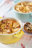 Apple cinnamon clafoutis Stock Image