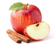 Apple with cinnamon. In closeup Royalty Free Stock Images