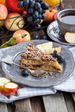 Apple and cinnamon crumble cake Stock Images