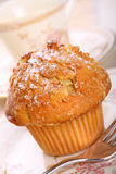 Apple and cinnamon crumble muffin Royalty Free Stock Image