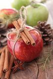 Apple,cinnamon and decoration Royalty Free Stock Image