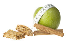 Apple Cinnamon Diet Bar Royalty Free Stock Photo