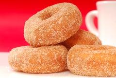 Apple Cinnamon Doughnuts With Coffee Stock Image