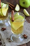 Apple and cinnamon drink royalty free stock images