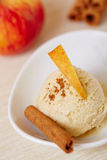 Apple cinnamon ice cream Stock Images