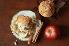 Apple and cinnamon muffins Stock Image