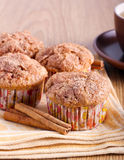Apple cinnamon muffins Stock Images