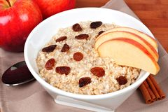 Apple cinnamon oatmeal Royalty Free Stock Photo