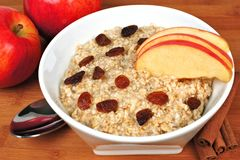 Apple cinnamon oatmeal Stock Photo
