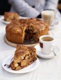 Apple and cinnamon pie Stock Photos