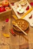 Apple Cinnamon Pie Filling Royalty Free Stock Photo