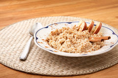 Apple Cinnamon Porridge Stock Photography