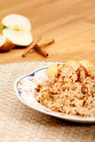 Apple Cinnamon Porridge Stock Photo