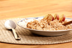 Apple Cinnamon Porridge Royalty Free Stock Photos