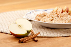 Apple Cinnamon Porridge Royalty Free Stock Image
