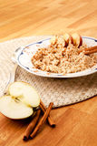 Apple Cinnamon Porridge Royalty Free Stock Photo