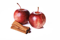 Apple and cinnamon Stock Images