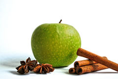 Apple and Cinnamon with Star Anise Stock Images