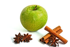 Apple and Cinnamon with Star Anise Royalty Free Stock Photo