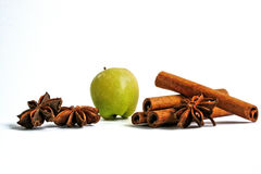 Apple and Cinnamon with Star Anise Stock Photography