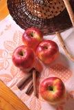Apple with cinnamon Royalty Free Stock Photo