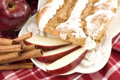 Apple Cinnamon Streusel Coffee Cake Stock Photography