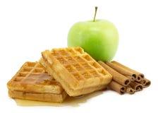 Apple, cinnamon, sugar Stock Image