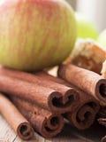Apple and cinnamon Royalty Free Stock Photos