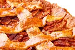 Apple and cinnamon tart close up Royalty Free Stock Photo