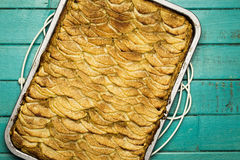 Apple Cinnamon Tart With Hazelnut Frangipane Stock Image