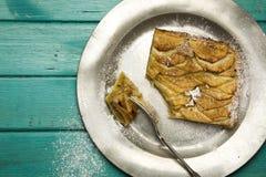 Apple Cinnamon Tart With Hazelnut Frangipane Royalty Free Stock Images