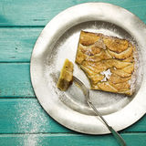 Apple Cinnamon Tart With Hazelnut Frangipane Stock Photos