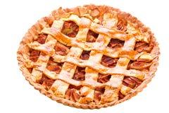 Apple and cinnamon tart isolated Royalty Free Stock Photo