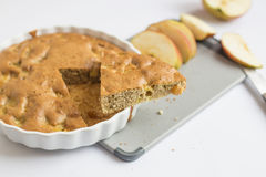 Apple cinnamon tea cake Royalty Free Stock Images