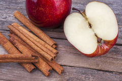 Apple and cinnamon Stock Photo