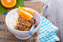 Apple and citrus crumble Royalty Free Stock Photography