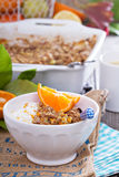 Apple and citrus crumble Royalty Free Stock Image