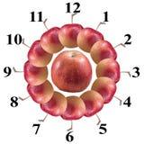 Apple clock. On white background royalty free illustration