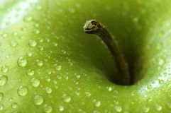 Apple Close-up. Viewed from top Royalty Free Stock Image
